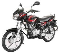 Bajaj Discover 125 Ebony Black with Deep Red Graphics