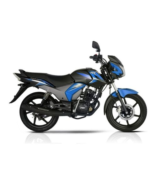 tvs stryker 125cc black blue