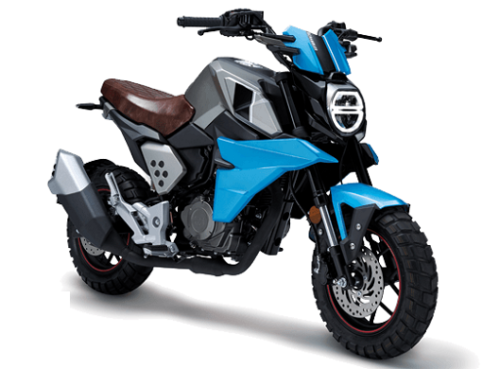 FKM Mini Scrambler 150 MS Grey & Blue BikeShikari