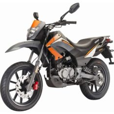 Keeway TXM 150 Silver With Orange BikeShikari